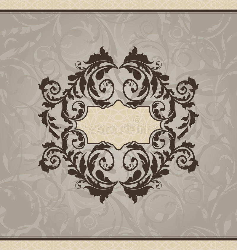 Scheda o invito ornamentale di rinascita royalty illustrazione gratis