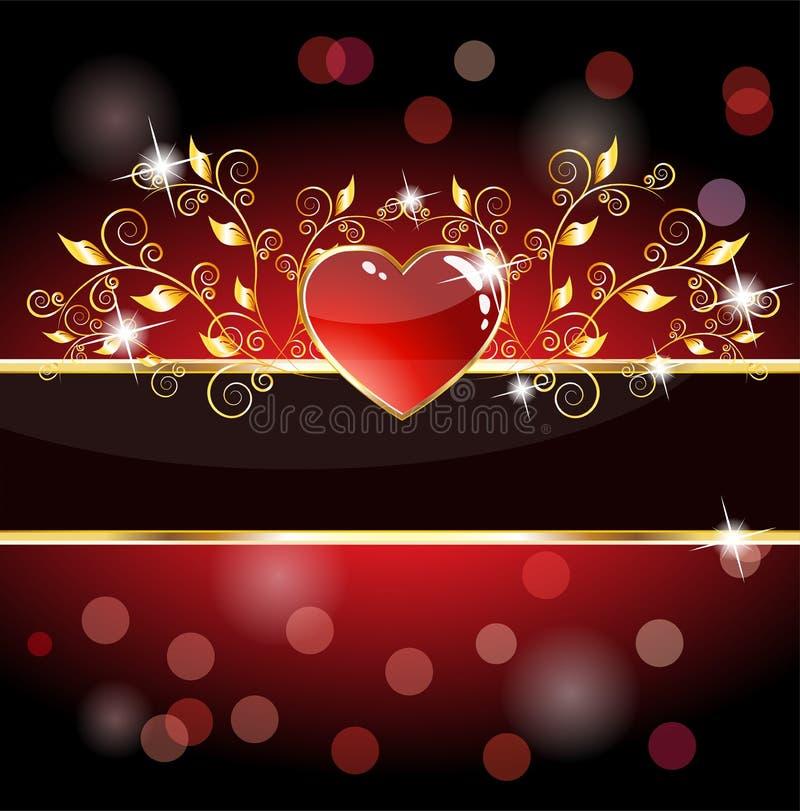 Scheda reale del cuore illustrazione vettoriale