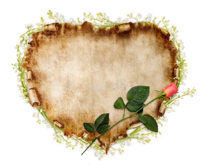 Scheda stilizzata del biglietto di S. Valentino della bella annata illustrazione vettoriale