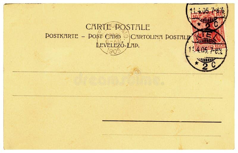 Scheda vuota dell'annata a partire da 1905 fotografie stock