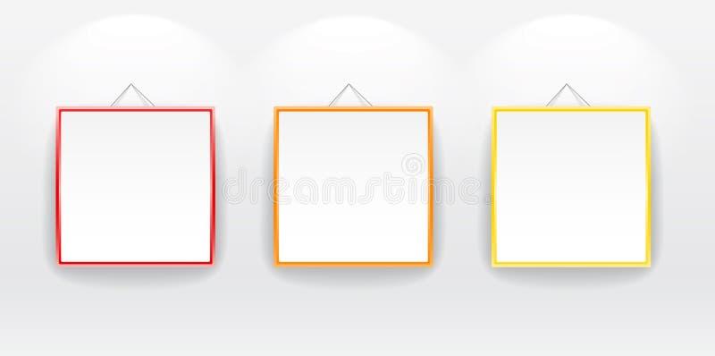 Schede in bianco con i blocchi per grafici di colore illustrazione vettoriale