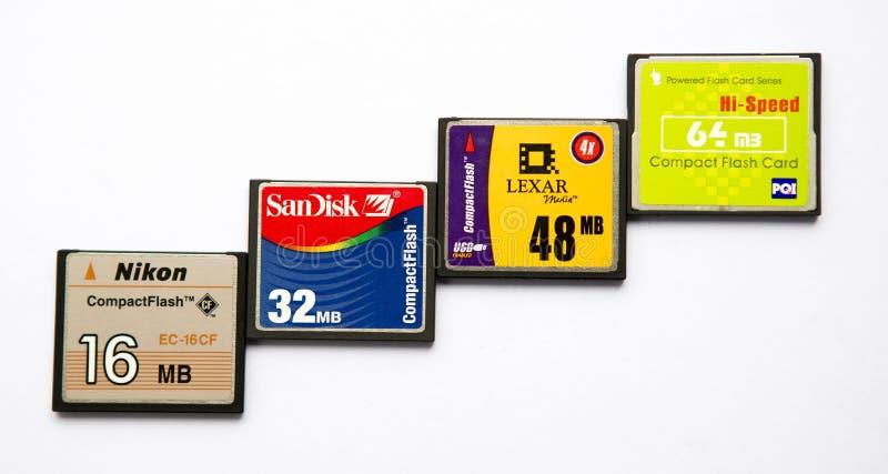 Schede compatte di memoria Flash immagini stock