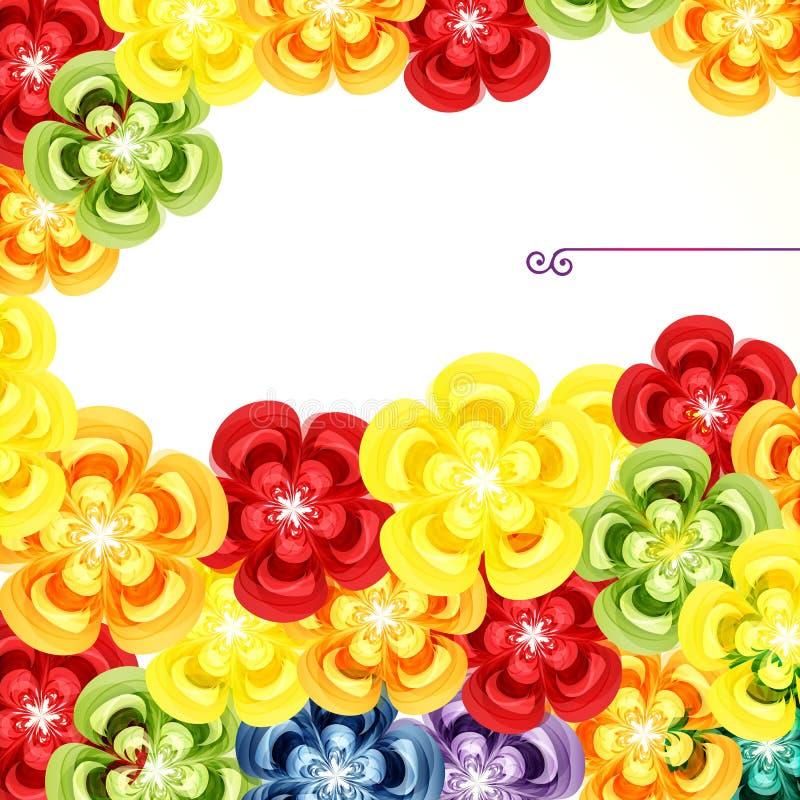 Schede del regalo Ambiti di provenienza di progettazione floreale illustrazione vettoriale