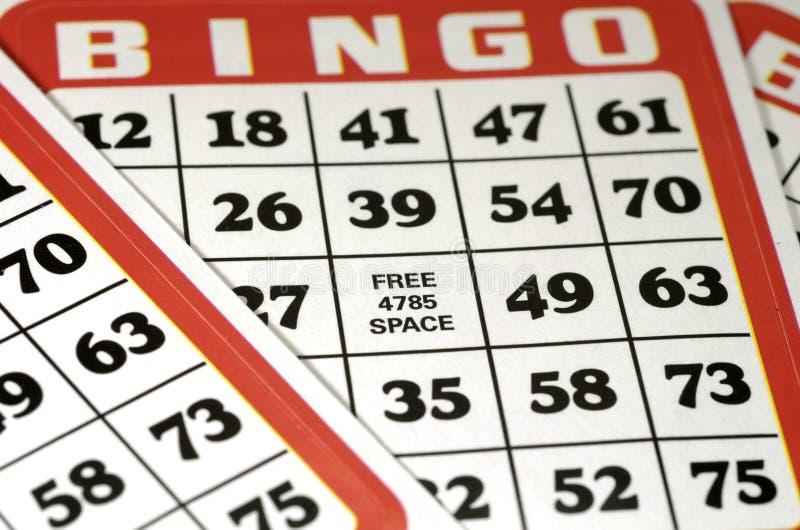 Schede di Bingo fotografia stock libera da diritti