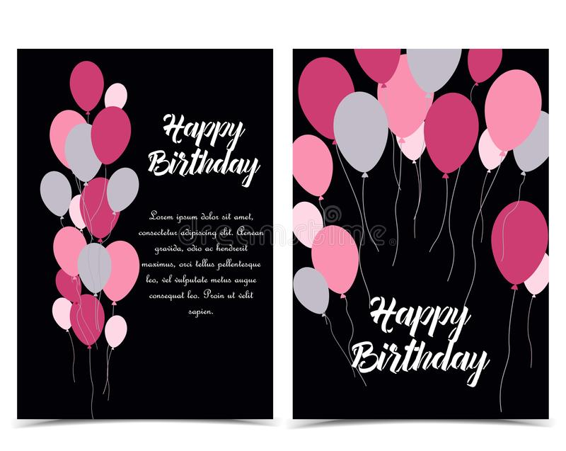 Schede di buon compleanno royalty illustrazione gratis