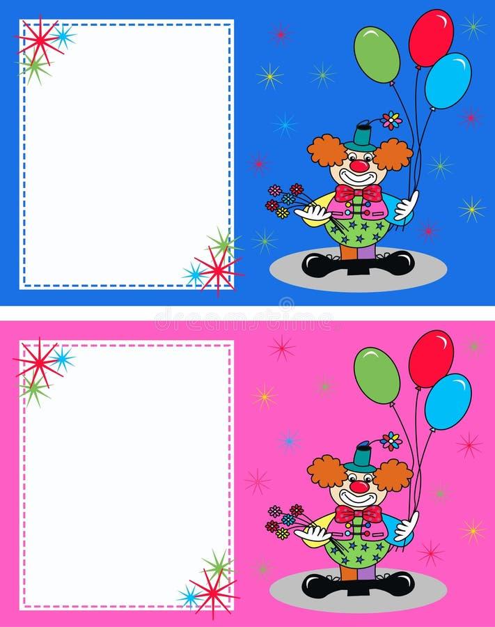 schede di celebrazione o dell'invito illustrazione vettoriale