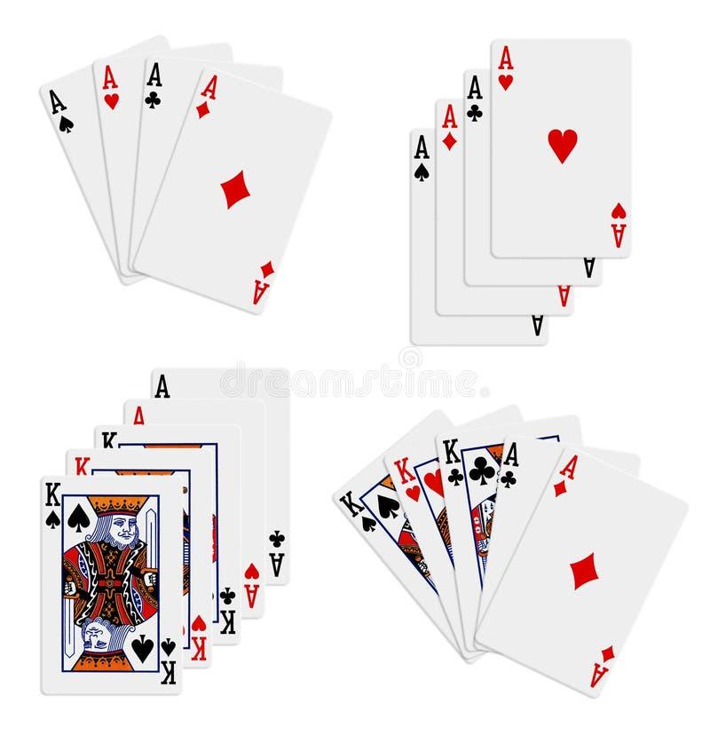Schede di gioco illustrazione vettoriale