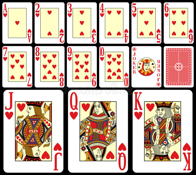 Schede di gioco del black jack [1] illustrazione di stock