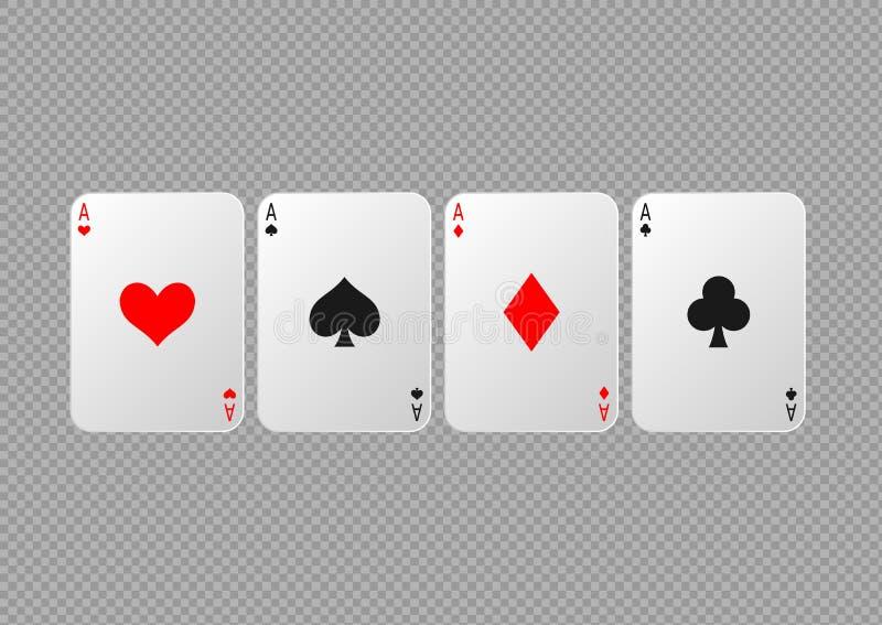 Schede di gioco della mazza illustrazione vettoriale