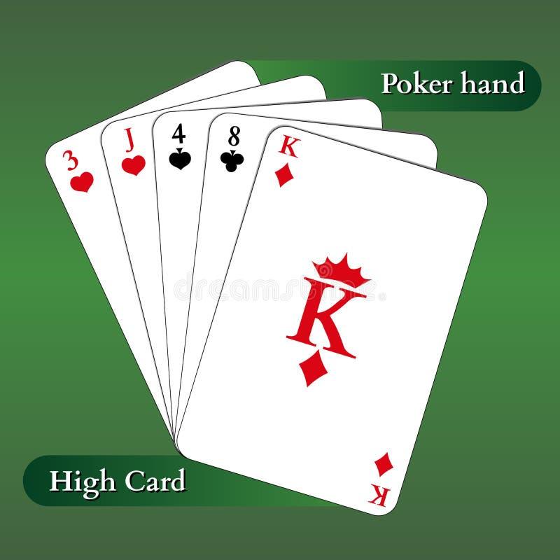 Schede di gioco di vettore Mano di mazza Alta scheda royalty illustrazione gratis