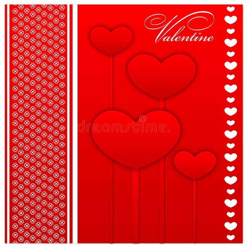 Schede di giorno e di sarchiatura di biglietti di S. Valentino illustrazione di stock