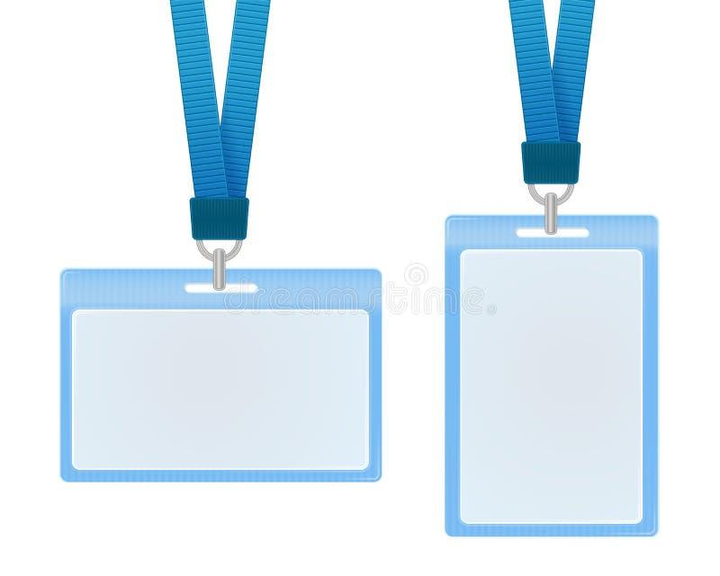 Schede di identificazione illustrazione vettoriale