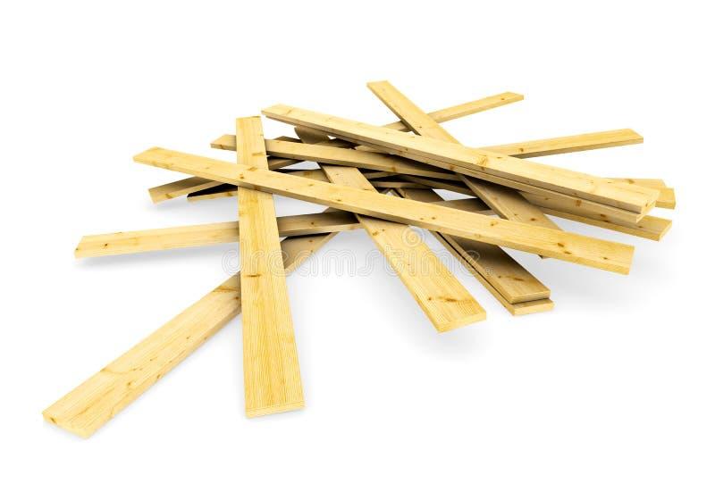 schede di legno illustrazione di stock