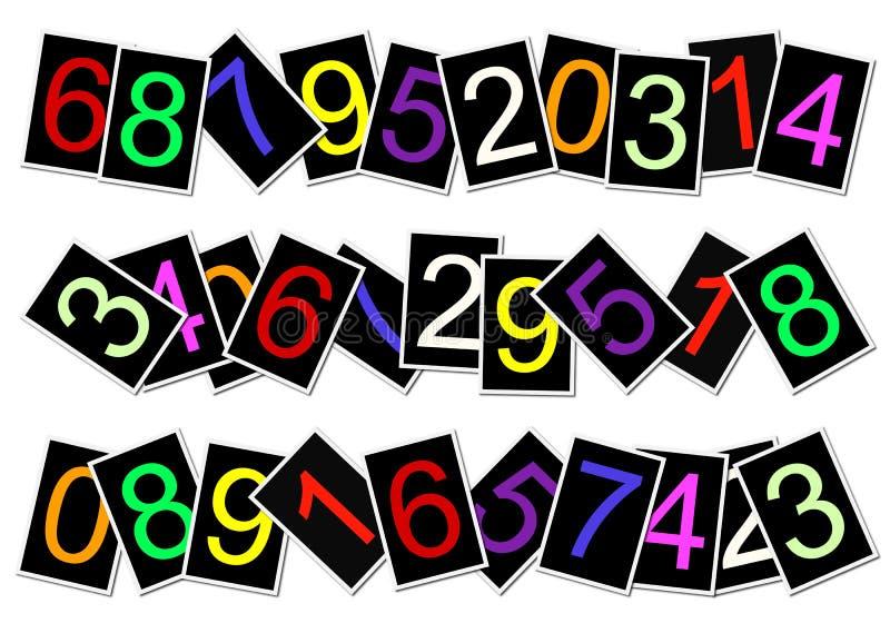 Schede di numero illustrazione di stock