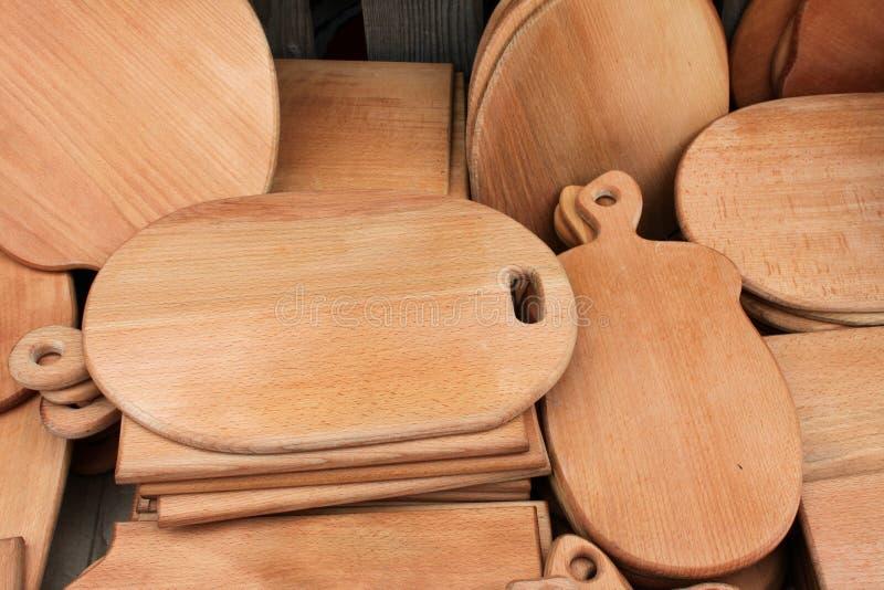 Schede di taglio di legno immagine stock libera da diritti