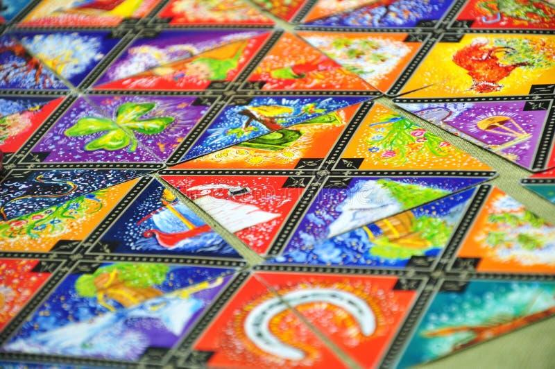 Schede di Tarot fotografie stock libere da diritti