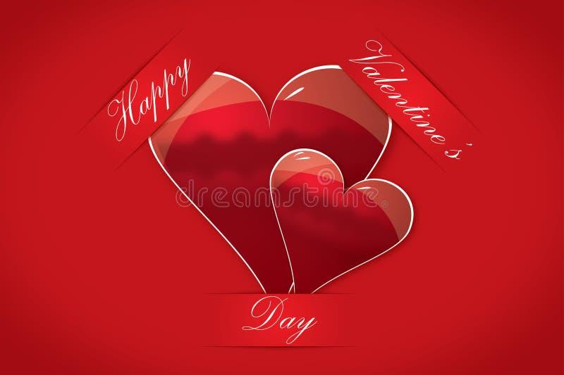 Schede felici del giorno del biglietto di S. Valentino fotografia stock libera da diritti