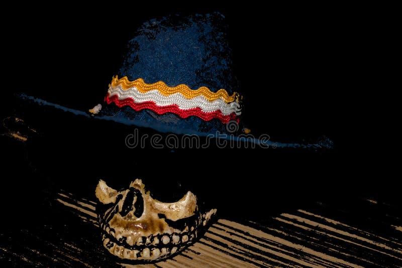 Schedel met hoed vector illustratie