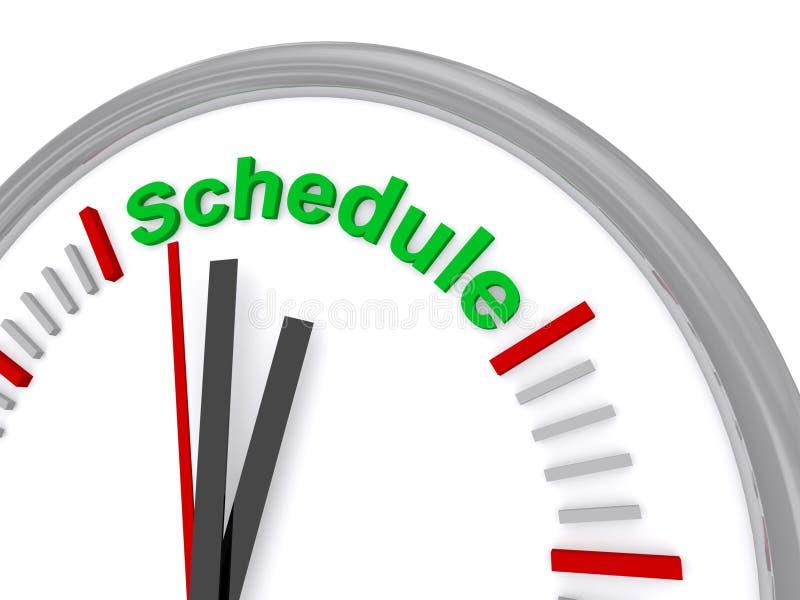 Schedule clock vector illustration