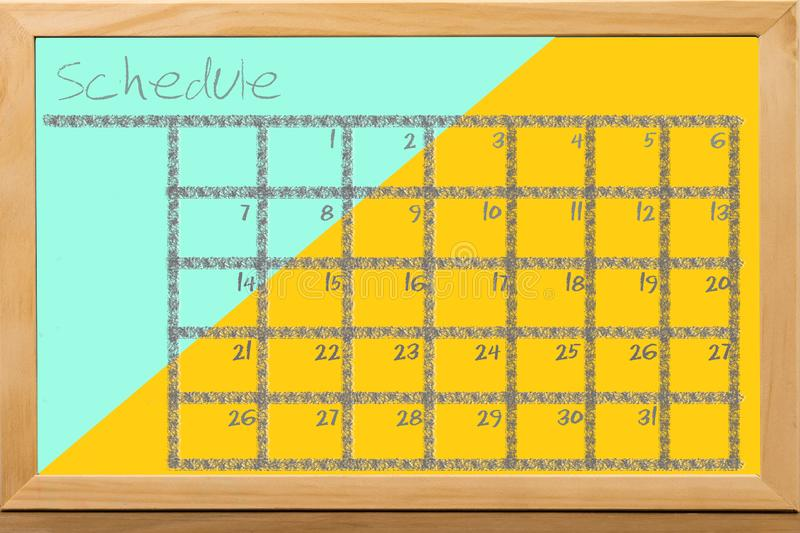 Schedule colorful for monthly note stock illustration