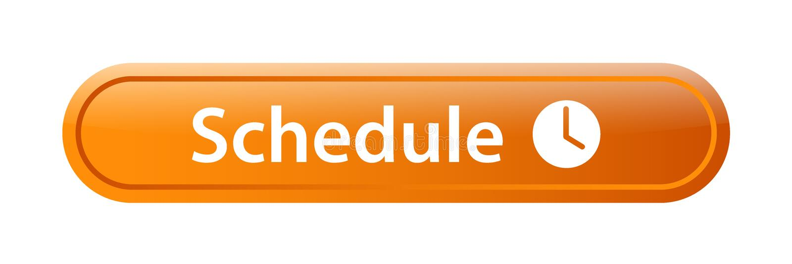 Schedule icon web button. Icon of vector illustration on isolated white background royalty free illustration
