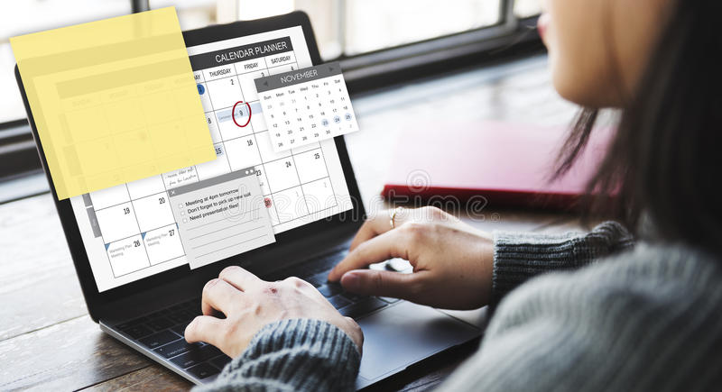Schedule Planner Task Agenda Checklist Concept royalty free stock images