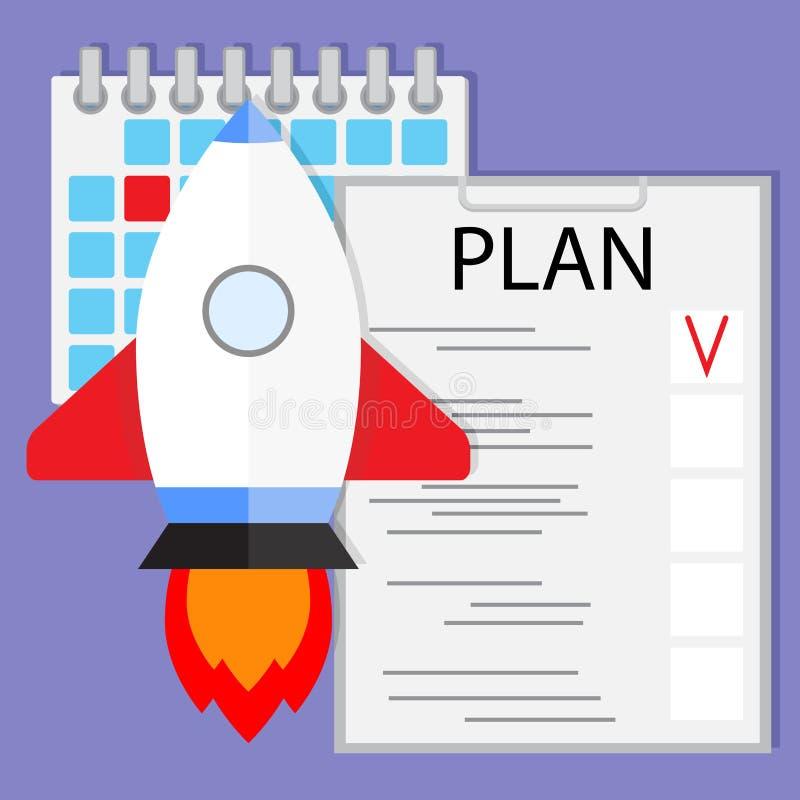 Schedule startup launch plan stock illustration