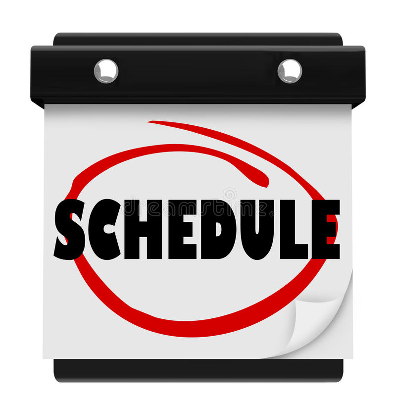 Schedule Word Wall Calendar Remember Appointments Stock ...
