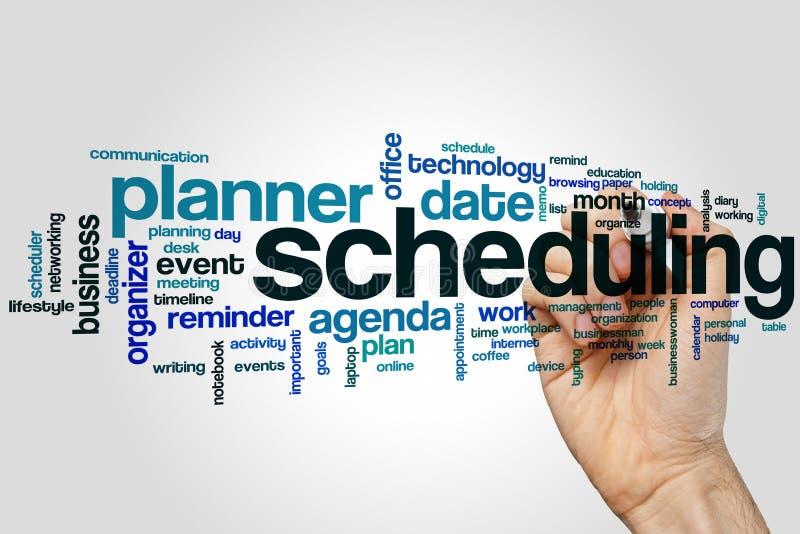 Schedulingordmoln arkivfoto