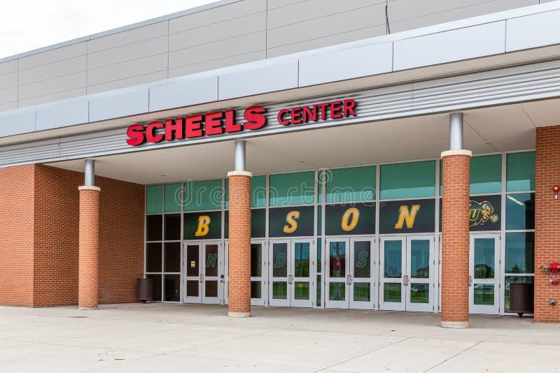 Scheels mitt på den North Dakota delstatsuniversitetet arkivfoton