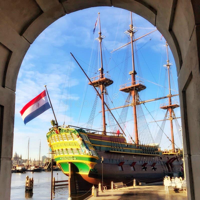 Scheepvaartmuseum Amsterdam, Nederland fotografia royalty free