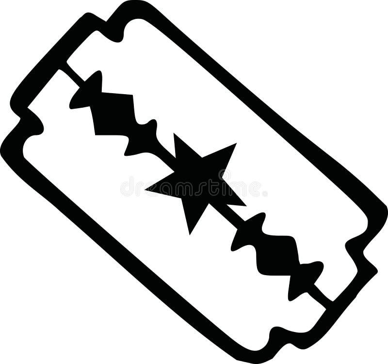 Scheermesjestaal royalty-vrije illustratie