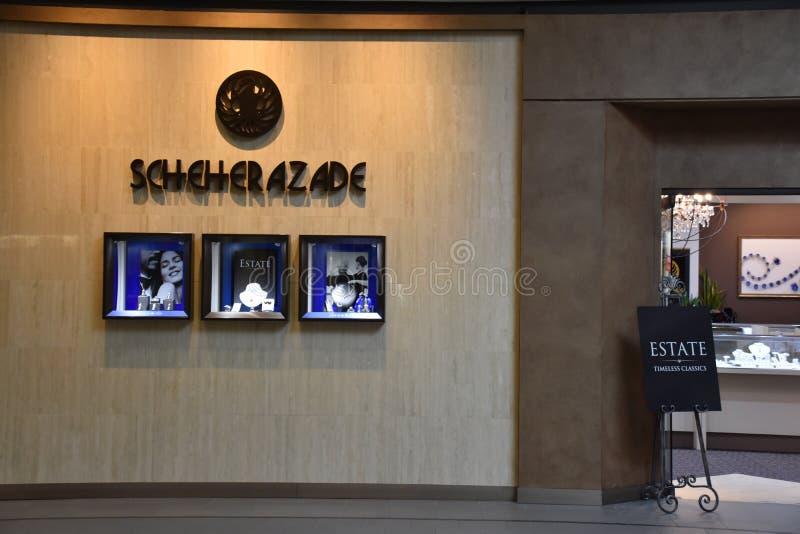 Scheherazadeopslag in Galleria in Edina, Minnesota stock fotografie