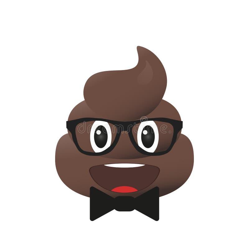 Scheiße emoji Poo-Emoticon Heckgesicht lokalisiert lizenzfreie abbildung