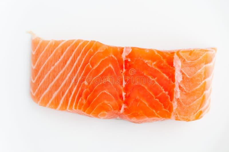 Scheibe der frischen Lachse stockfoto