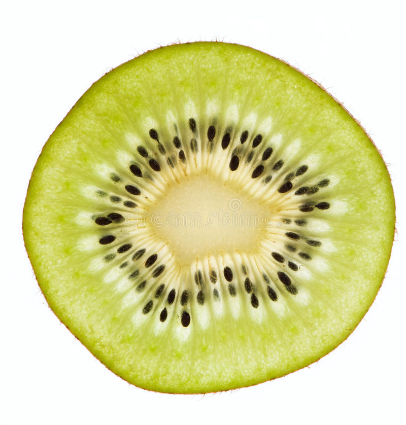 Scheibe der Kiwi lizenzfreie stockbilder