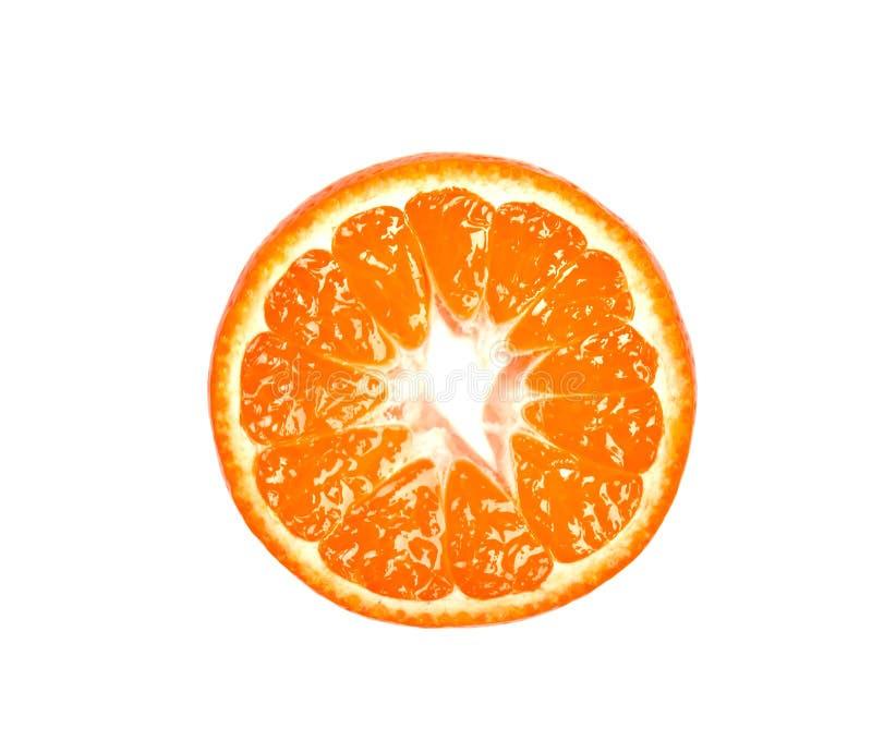 Scheibe der Mandarine lokalisiert auf weißem Hintergrund Zitronen, Orangen und Kalke Stücke der frischen Mandarine, mit Beschneid stockfotos