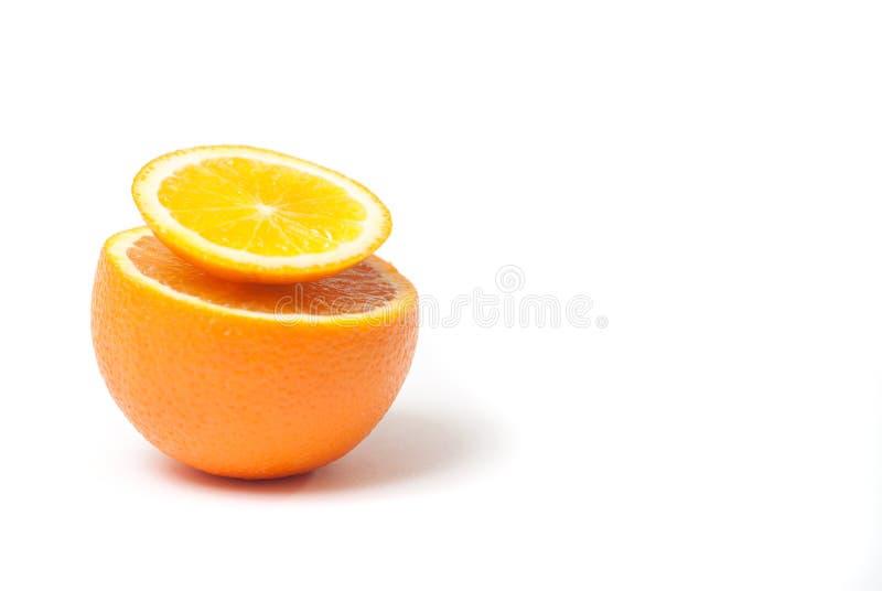 Scheibe der Orange lokalisiert auf weißem Hintergrund, stockfotografie