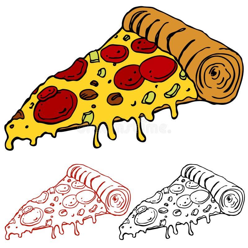 Scheibe der Pizza vektor abbildung