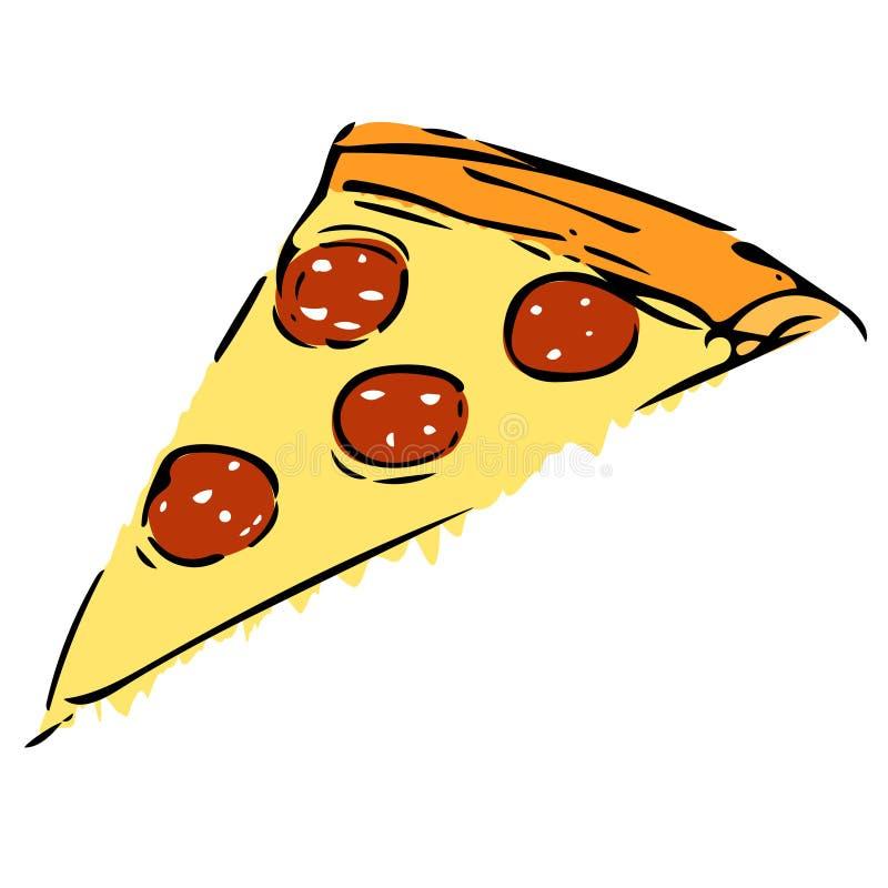 Scheibe der Pizza lizenzfreie abbildung