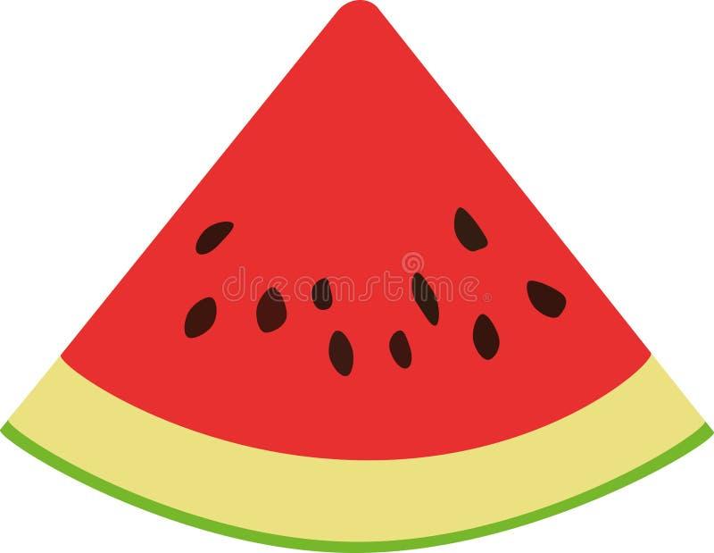 Scheibe der roten Wassermelone mit Samen vektor abbildung
