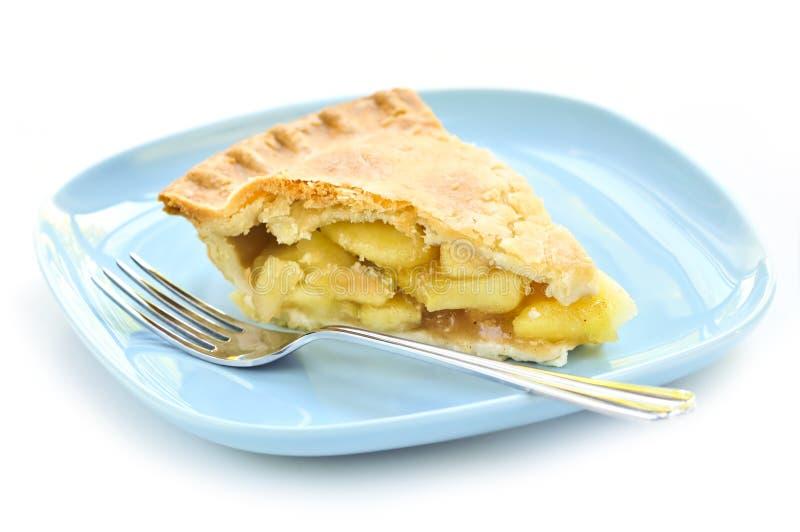 Scheibe des Apfelkuchens lizenzfreies stockfoto