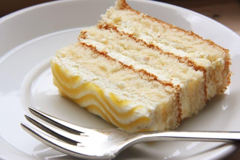 Scheibe des Kuchens stockbilder