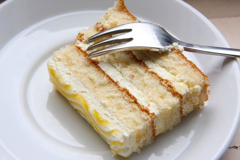 Scheibe des Kuchens stockfoto