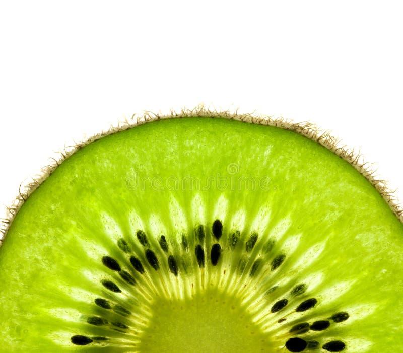 Scheibe einer frischen Kiwi/des Supermakro lizenzfreies stockbild