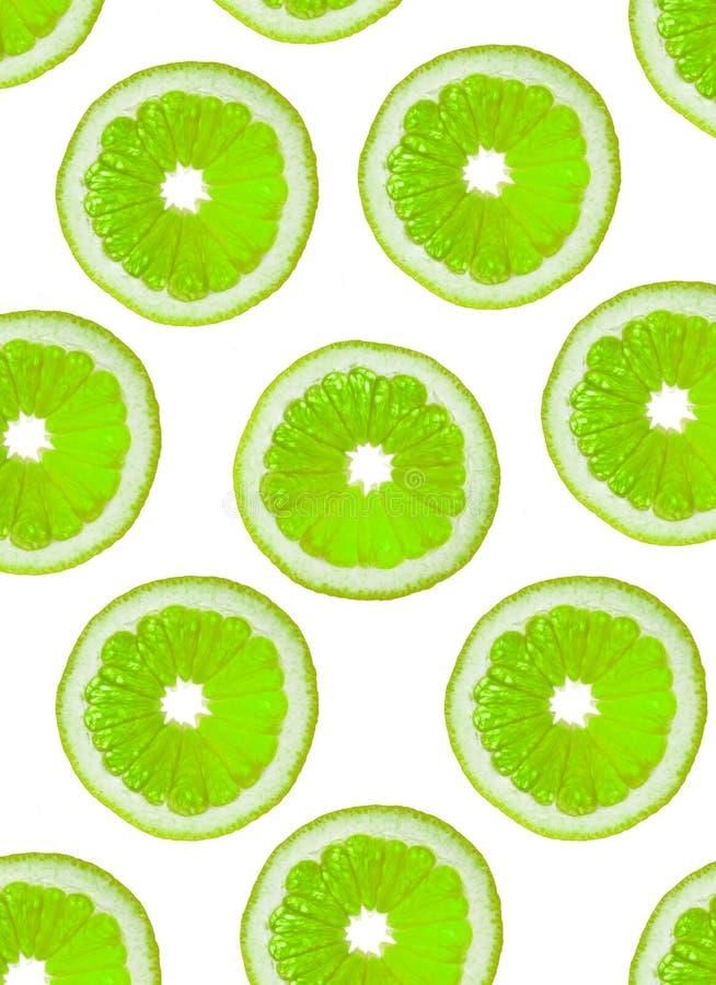 Scheiben der grünen Frucht stockfotografie