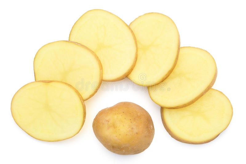 Scheiben der Kartoffel stockbilder
