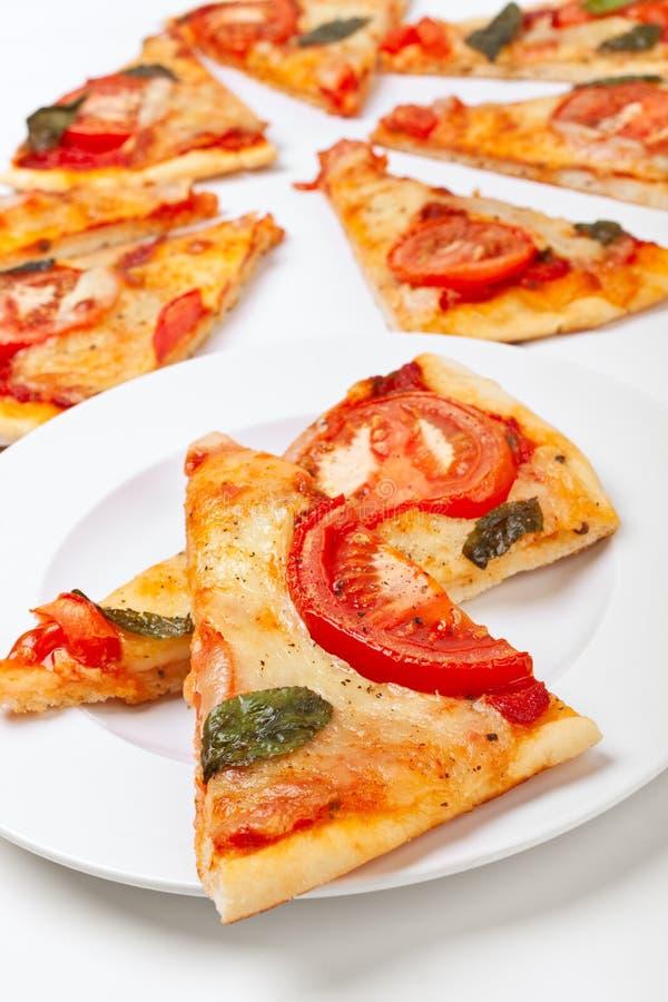 Scheiben der Pizza stockfotografie
