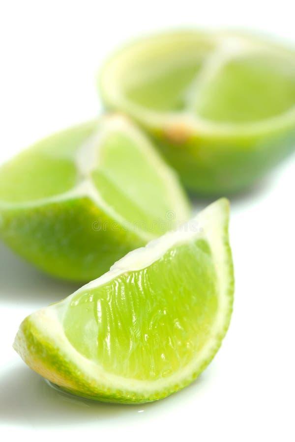 Scheiben der reifen Kalkfrucht lizenzfreies stockfoto