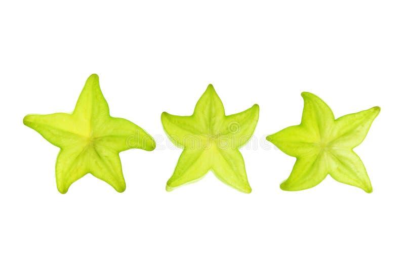 Scheiben der Stern-Frucht stockfoto